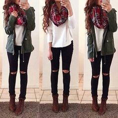 scarf red red scarf loop loopscarf winter outfits winter scarf warm instagram jacket green green jacket