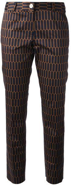 MICHAEL KORS Brown Straight Leg Trouser - Lyst