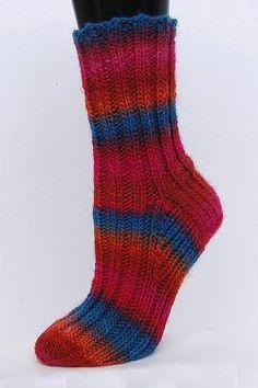 Mochi Plus Ribbed Socks free knit sock pattern - Crystal Palace Yarns