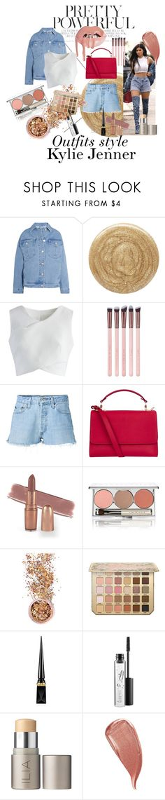 """""""Kylie Jenner"""" by leazyns on Polyvore featuring moda, Topshop Unique, Burberry, Chicwish, RE/DONE, Sophie Hulme, Chantecaille, In Your Dreams, Christian Louboutin y MAC Cosmetics"""