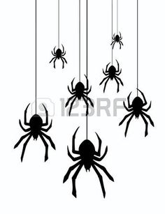 Illustration of black silhouette of a spider on a white background vector art, clipart and stock vectors. Spider Template, Spider Clipart, Spider Drawing, Spider Web Tattoo, Funny Vintage Ads, Illustrator, Halloween Potion Bottles, Pumpkin Carving Templates, Adornos Halloween