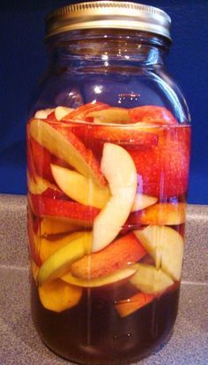 If you are interested in trying a simple liqueur and don't know where to start, apples are a great ingredient. The photo above may appear to be tart green apples, but these are actually a swe… Homemade Alcohol, Homemade Liquor, Alcohol Recipes, Wine Recipes, Cooking Recipes, Triple Sec, Fruity Wine, Apple Brandy, Spiced Apples
