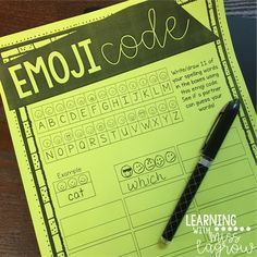 Emoji Code activity for any spelling list!  Great for Word Work, centers, Daily 5, and much more!