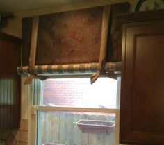 Custom STAGECOACH VALENCE by Jane Gianarelli Wood Floors, Interior, Office Decor, Interior Design Classes, Window Design, Home Decor, Types Of Window Treatments, Interior Design, Window Treatments
