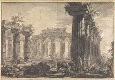 Lot 5: A SpEd Reproduction Drawing from Temples at Paestum series by Giovanni Battista Piranesi