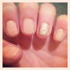 Pink & Gold nails!