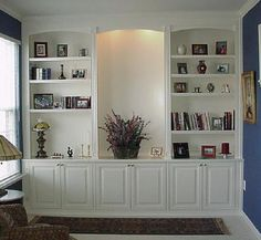 Deluxe Custom Built Bookcases