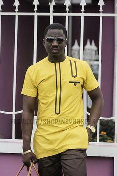 Vêtements de mode africaine pour hommes Ensemble par NayaasDesigns