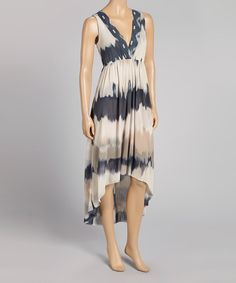 Take a look at this Sweet Pea by Stacy Frati Kaluga Taupe & Foul Black Maxi Dress on zulily today!