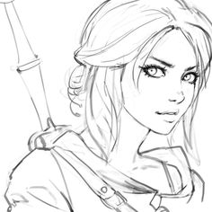 the witcher, ciri art inspiration drawings Art Drawings Sketches, Cool Drawings, Art Sketches, Fantasy Drawings, Drawings Of Faces, Beautiful Drawings, Character Drawing, Character Design, Character Concept