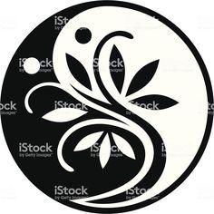 Black and white tree, yin yang symbol. - Yin Yang Tree royalty-free yin yang tree stock vector art & more images of ayurveda - Arte Yin Yang, Ying Y Yang, Yin Yang Art, Ayurveda, Korean Painting, Black And White Tree, Free Stock, Tattoo Graphic, Free Vector Art