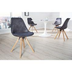 Moderne stoel Scandinavia antiek grijs - 36505