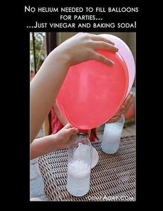 How to make helium balloons with vingar and baking soda