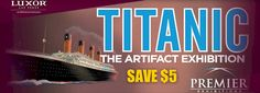 Titanic The Exhibition coupons. Save $5.00 Off Adult Admission in Las Vegas! Save with Free Discount Travel Coupons from DestinationCoupons.com!