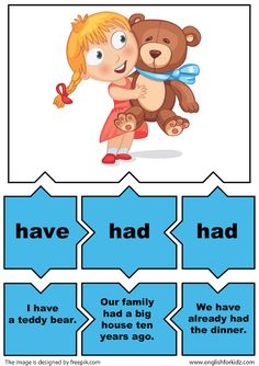 esl verb puzzle game irregular verb have English Grammar Games, Grammar And Vocabulary, Vocabulary Cards, English Language, Foreign Language Teaching, Language Lessons, Teaching English, English Play, English Verbs
