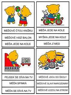 Pro Šíšu: Medvedi - cteni s porozumenim Reading Comprehension, Montessori, Winnie The Pooh, Alphabet, Language, Education, Comics, Learning, Logos