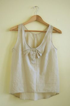 layered collar lawn tank // size s by Free Apples on Etsy $55