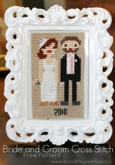 I have shared a few bride and groom cross stitch projects, but I have saved the best for last–me and my husband! And, no offence to my sisters, but I think mine turned out the best! I am so excited to share it with you, especially since it's August and in just a few short … … Continue reading →