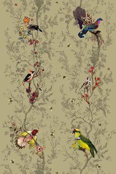 Birds n Bees printed #linen http://www.timorousbeasties.com