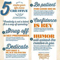 5 maneras para tener una vida más creativa.