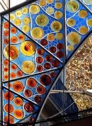 Stain glass was extremely useful during the period of modernisme as it allowed the artist to play with natural color and light. The color that shines through also varies as it depends on how strong the sun is outside which is very cool.