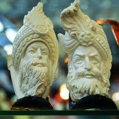 Meerschaum pipes and sultans.