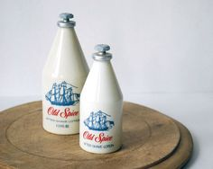 Vintage Old Spice Bottles with After Shave Lotion by CalloohCallay