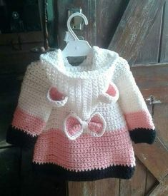 Discover thousands of images about Cathy Crews This Pin was discovered by Vir Crochet Patterns For Kids Wall Best 12 Easy Crochet Coat Video Tutorial and Free Pattern Baby Girl Crochet, Crochet Baby Clothes, Crochet For Kids, Easy Crochet, Baby Knitting Patterns, Baby Patterns, Crochet Patterns, Crochet Coat, Crochet Cardigan Pattern