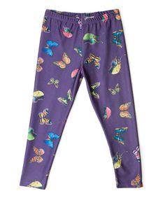 Look at this #zulilyfind! Purple Butterfly Leggings - Toddler & Girls #zulilyfinds