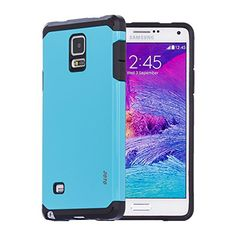 nice Galaxy Note 4 Armor Case, JOTO Dual Layer Samsung Galaxy Note 4 Case Protective Armor Hard Slim Galaxy Note 4 Case Cover, SM-N910 (Blue)