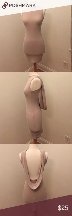 Slim Fit Drape Open Back Sleeveless Dress Open Back Drape style sleepless dress ASOS Dresses Mini