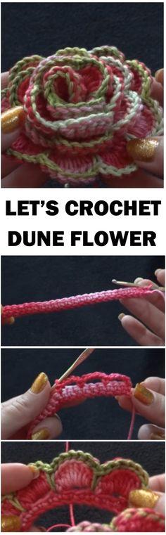 Crochet Dune Flower Skirt Step by Step