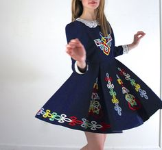 """This is crazy this costume is from my old dance school """"The Farrell school of Irish Dance"""" and there are HUNDREDS out there in just Albany alone, it is from the late 80s early 90s certainly not the 60s!!! False advertising. -Vintage Dancing Dress / Irish Step Dance Dress by jessjamesjake"""