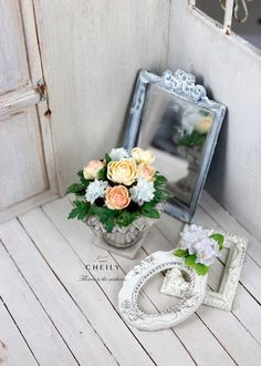 Dollhouse miniature flowers Summertime bloom by CheilysMiniature