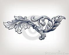 Vector vintage Baroque frame scroll pattern by Somesun, via Dreamstime