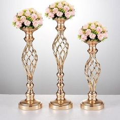 Cheap pillar candlesticks, Buy Quality vase candle holder directly from China vase candle Suppliers: Flowers Vases Candle Holders Road Lead Table Centerpiece Metal Gold Stand Pillar Candlestick For Wedding Candelabra 59 Metal Flowers, Gold Flowers, Flower Vases, Hydrangea Flower, Flower Wall, Tall Candle Holders, Candle Holders Wedding, Candle Stand, Candlestick Holders