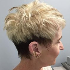 Brown And Blonde Pixie For Women Over 50