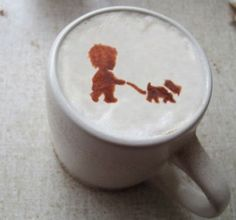 coffee stencil - Google Search   literally the cutest coffee i have ever seen in my LIFE