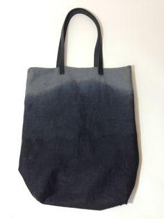 Smoky Black Dip-Dye Shopper via NUUÉ. Click on the image to see more!
