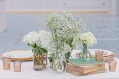 Decoração para casamento vintage com verde menta.