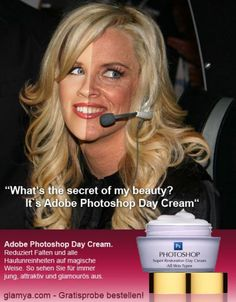 Jenny McCarthy photoshopped and the picture without photoshop
