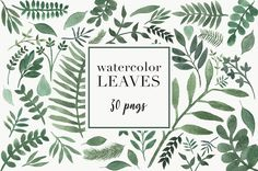Watercolor Leaves on @creativemarket #watercolor #leaves #invitations