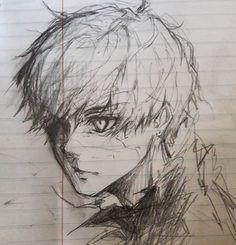 Fantasting Drawing Hairstyles For Characters Ideas. Amazing Drawing Hairstyles For Characters Ideas. Anime Drawings Sketches, Pencil Art Drawings, Anime Sketch, Cool Drawings, Tokyo Ghoul Drawing, Kaneki Ken Drawing, Manga Art, Anime Art, Juuzou Tokyo Ghoul