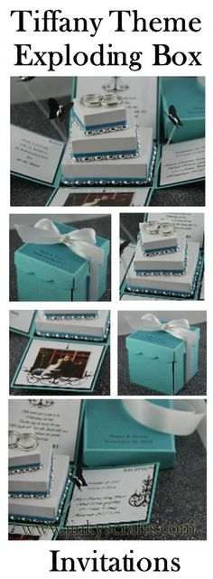 don't like the the 3 tier cake thing in the middle. but I love the idea of the tiffany box. so cute