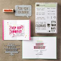 Party with Cake Wood-Mount Bundle by Stampin' Up!
