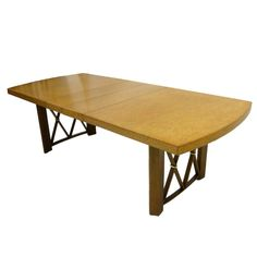 Paul Frankl Cork Top Dining Table by Johnson Furniture Company | From a unique collection of antique and modern dining room tables at https://www.1stdibs.com/furniture/tables/dining-room-tables/