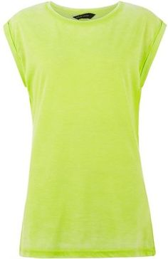 Lime Green Burnout Longline T-Shirt