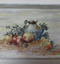 δίσκος Tea Tray, Decoupage, Painting, Art, Art Background, Painting Art, Kunst, Paintings, Performing Arts