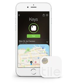 Tile tracker + app help you track down everything from keys to phones to missing luggage. Even a car!