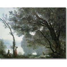 Trademark Fine Art Souvenir of Montefontaine. Canvas Art by Jean Baptiste Corot, Size: 18 x 24, Multicolor